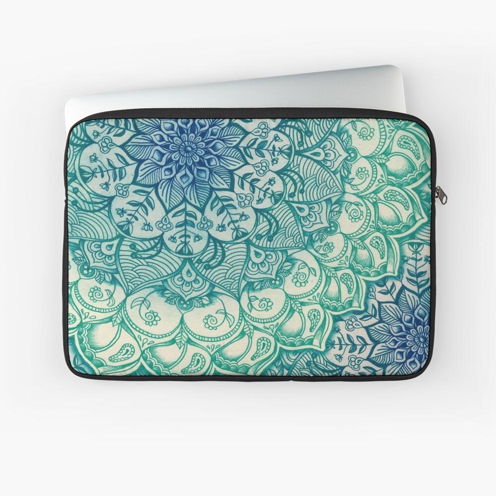 Smaragd-Gekritzel Laptoptasche