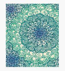 Emerald Doodle Photographic Print