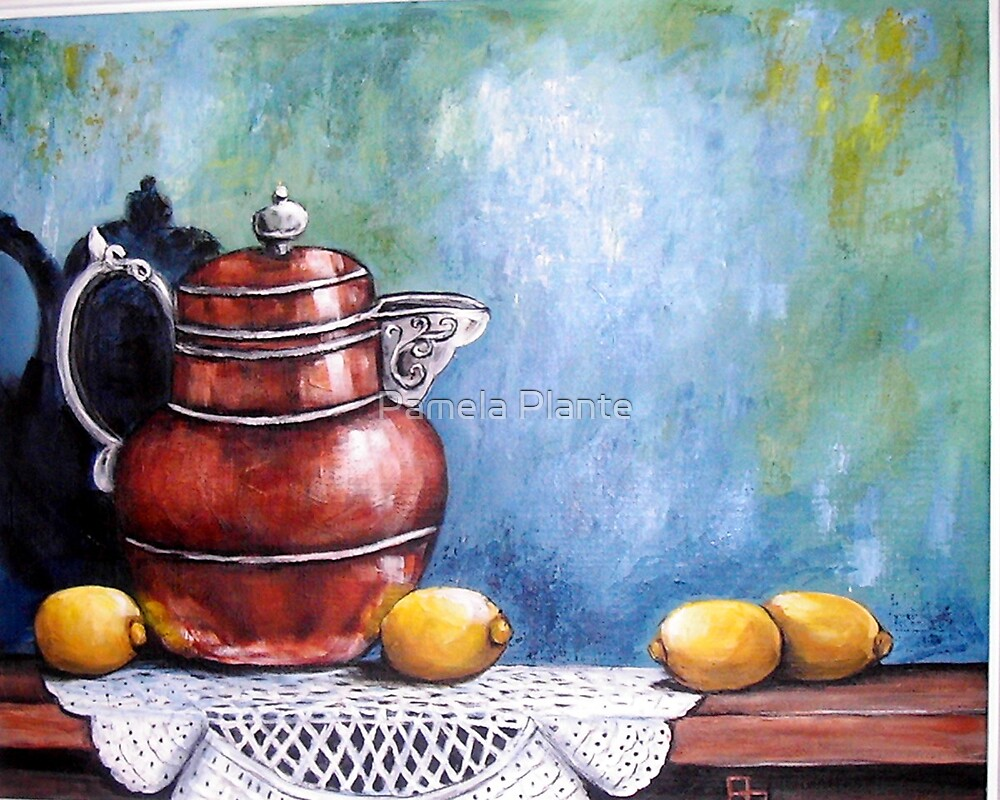 Copper Pot by Pamela Plante
