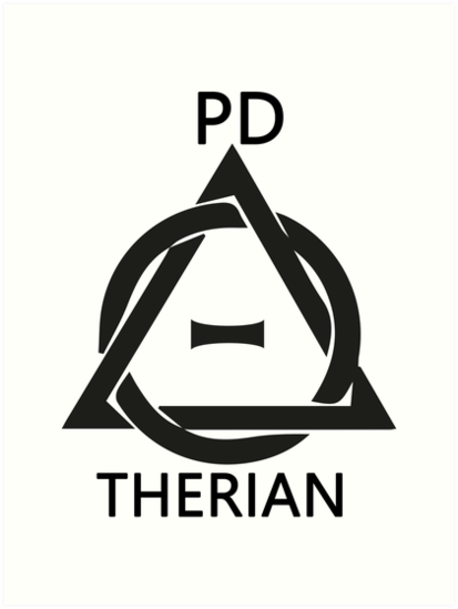 Theta Delta Therian Symbol Therianthropy Pd Therian Art Prints By