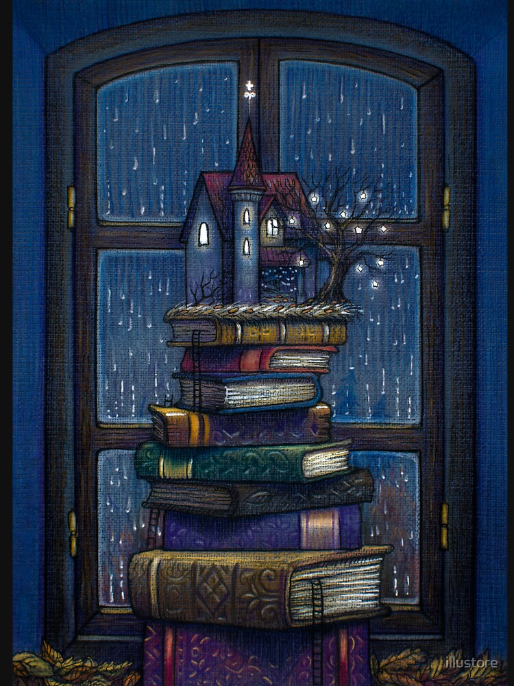 Books castle by illustore