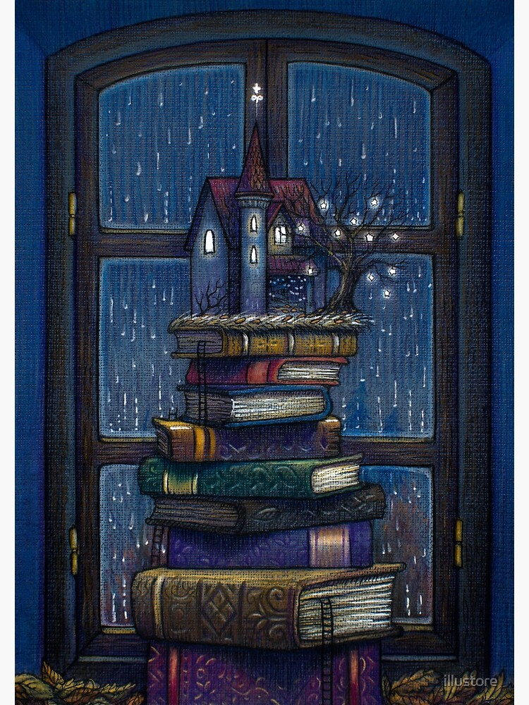 Books castle by illustore