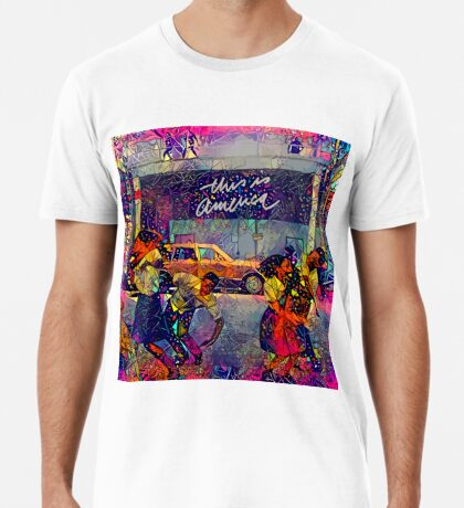 Abstract This Is America Premium T-Shirt