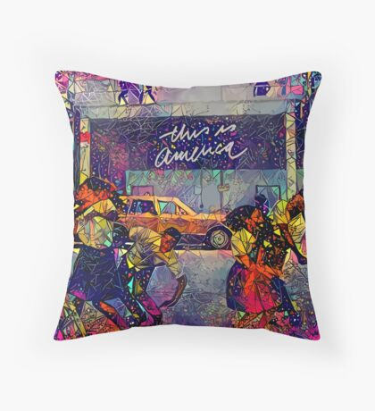 Abstract This Is America Floor Pillow