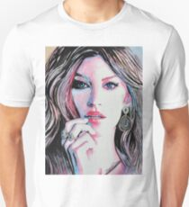 Gisele Bündchen in watercolor painting T-Shirt