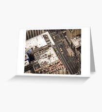 Vintage photograph of the streets New York City Greeting Card