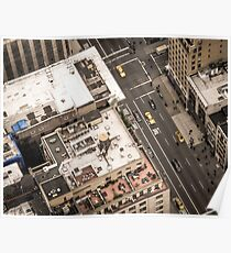 Vintage photograph of the streets New York City Poster
