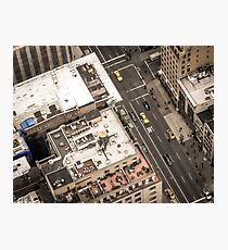 Vintage photograph of the streets New York City Photographic Print