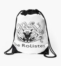 The Rolistes Podcast - Cthulhu Cat (Front Pocket Monochrome) Drawstring Bag