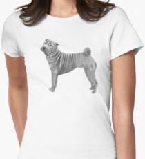Shar pei Women's Fitted T-Shirt