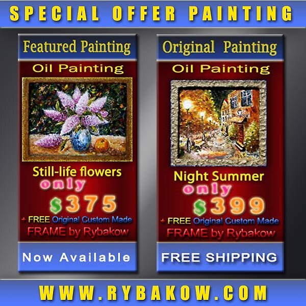 SPECIAL OFFER 2 PAINTINGS!!! SPECIAL PRICE !!! by valery rybakow