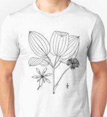 Botanical Scientific Illustration Black and White Smilax ecirrata Unisex T-Shirt