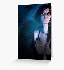 Dark Angel in the Forest 4 Greeting Card