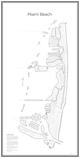 Illustrative Karte von Miami Beach (Guide) von Lucas Dietrich