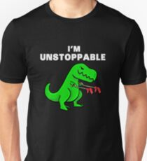 I AM UNSTOPPABLE Dinosaurier T-Rex Tyrannosaurus Slim Fit T-Shirt