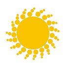 Geometric pattern vector background. Yellow on white. by ikshvaku