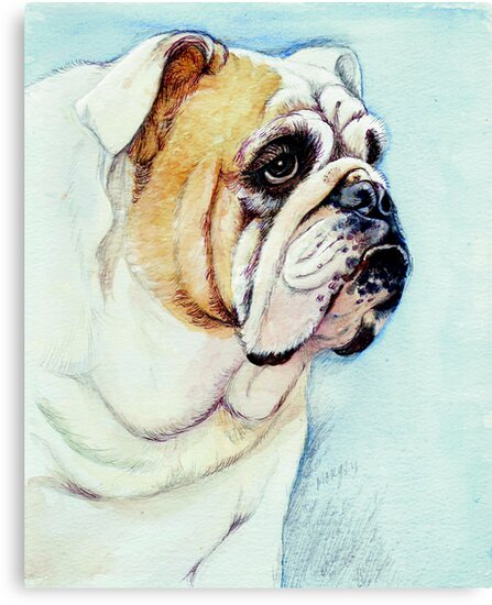 British Bulldog by morgansartworld