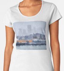 London - Canary Wharf in the fog  Women's Premium T-Shirt