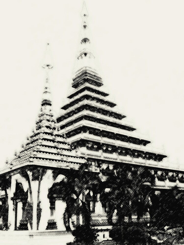 Stupa in Khon Kaen, Thailand by nikiderro