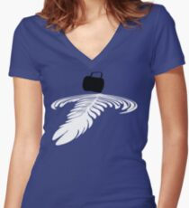 Pouring a rosetta Women's Fitted V-Neck T-Shirt