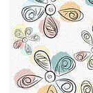 Paint Drop Flower Petals by Deana Greenfield