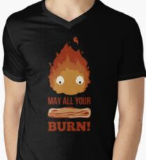 May all your BACON BURN!! Men's V-Neck T-Shirt