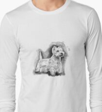 Westie black and white Long Sleeve T-Shirt