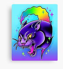 Rainbow Panther  Canvas Print