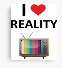 Reality TV Lover Canvas Print