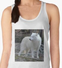Arctic Wolf on the alert. Women's Tank Top