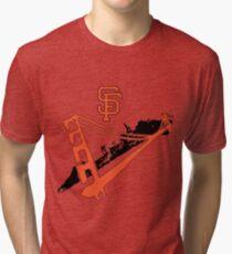 San Francisco Giants Stencil Tri-blend T-Shirt
