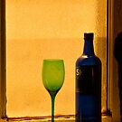Serenity Shores Bottle and Glass by Martha Johnson