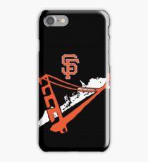 San Francisco Giants Stencil Black Background iPhone Case/Skin