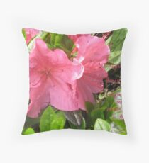 Pink Azalia Throw Pillow