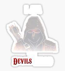 I am the Devils Head Sticker