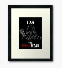 I am the Devils Head Framed Print