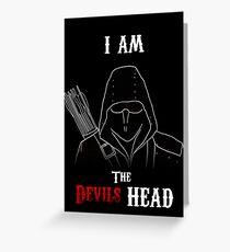 I am the Devils Head Greeting Card