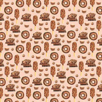 Cute Ice Cream Chocolate Pattern by LemoBoy