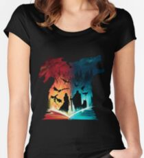 Print Game Of Thrones Women's Fitted Scoop T-Shirt
