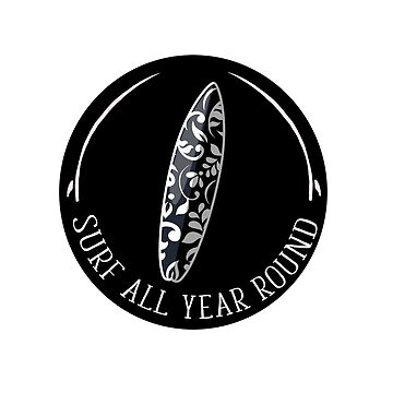 Surf All Year Round Cool Surfing Culture Design by IKOK