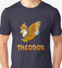 Theodor Eagle Sticker Unisex T-Shirt