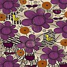 Whimsical Floral Folk Art Pattern by Amanda Gatton