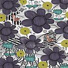Whimsical Folky Flower Design by Amanda Gatton