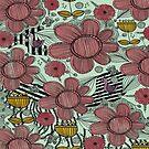 Whimsical Floral Folk Art Design  by Amanda Gatton