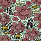 Whimsical Floral Folk Art Design  by Grimdol Fair