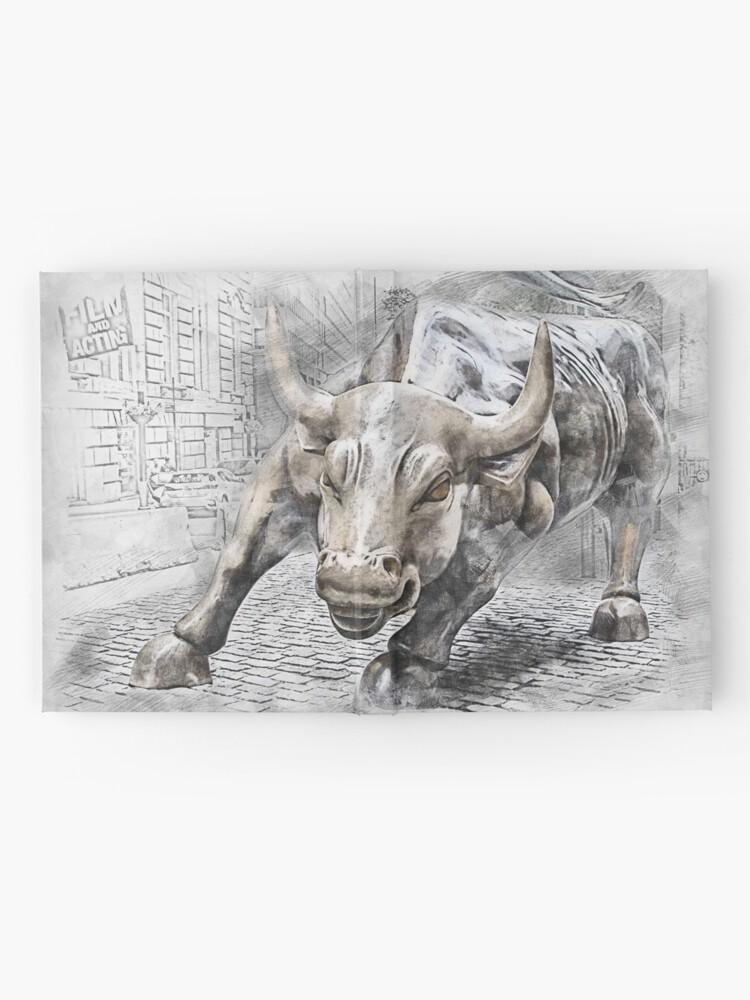 Alternative Ansicht von Bulle wütend Börse Notizbuch
