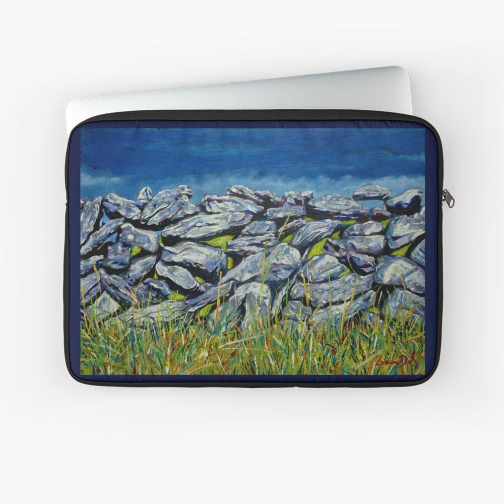 Burren Wall, Grafschaft Clare, Irland Laptoptasche