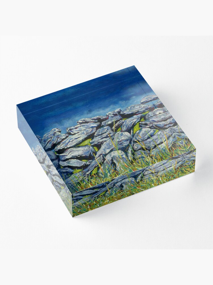 Alternative Ansicht von Burren Wall, Grafschaft Clare, Irland Acrylblock
