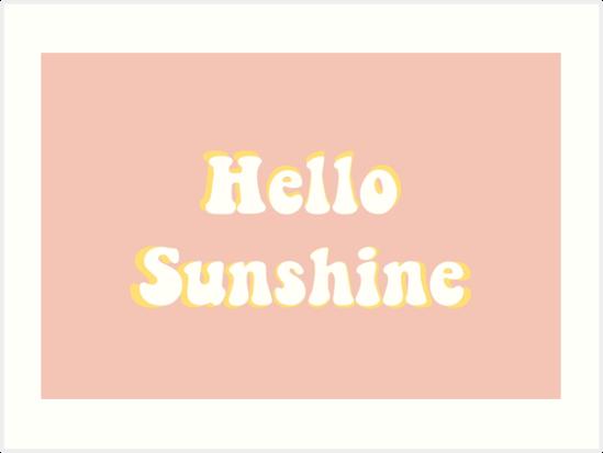 hallo Sonnenschein von camryndeni