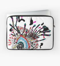 Psychedelic coral abstract flower Laptop Sleeve